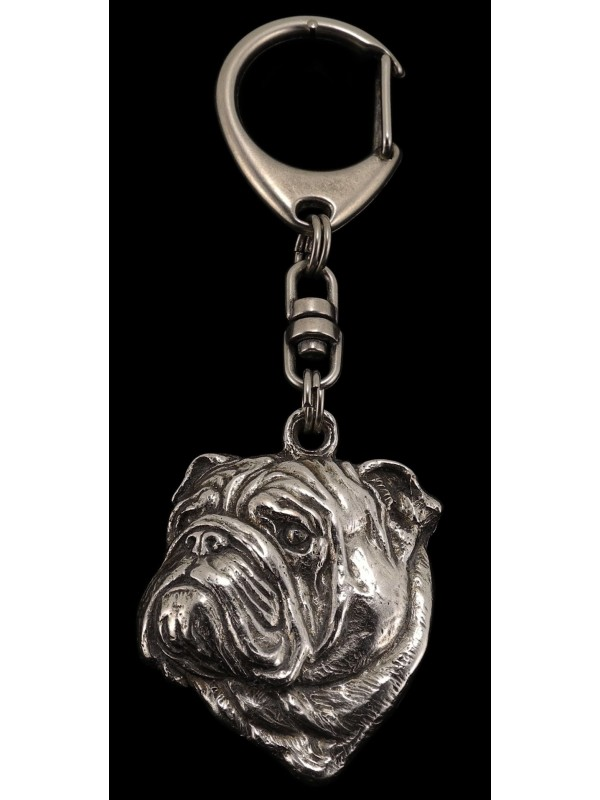 English Bulldog - keyring (silver plate) - 36 - 232
