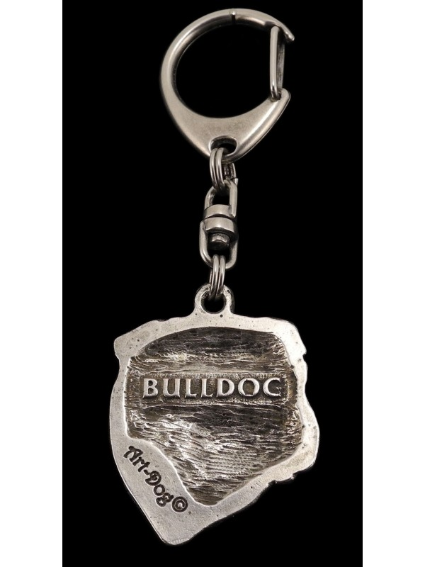 English Bulldog - keyring (silver plate) - 36 - 233