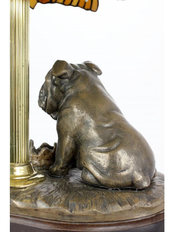 English Bulldog - lamp (bronze) - 659 - 7627