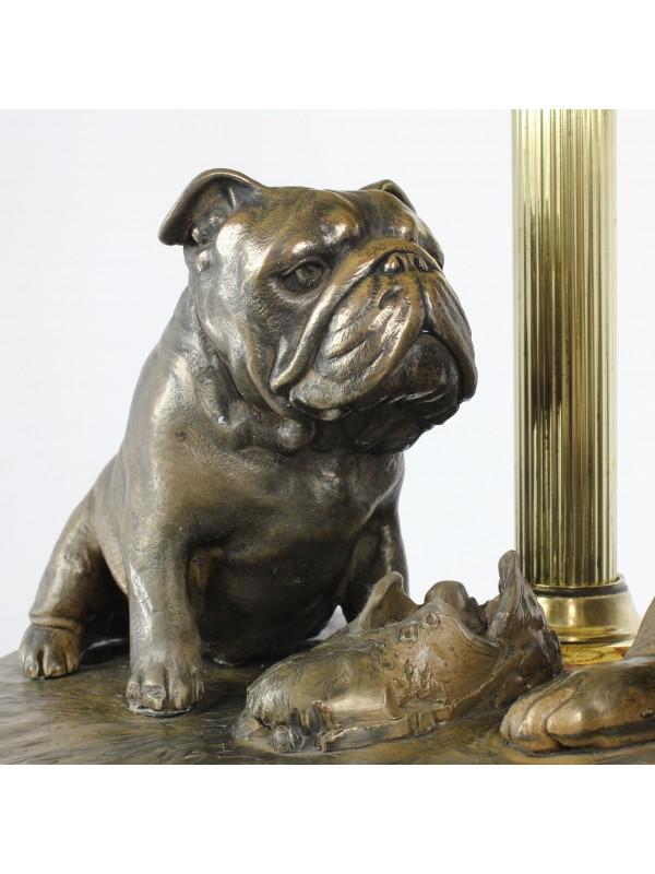 English Bulldog - lamp (bronze) - 659 - 7620