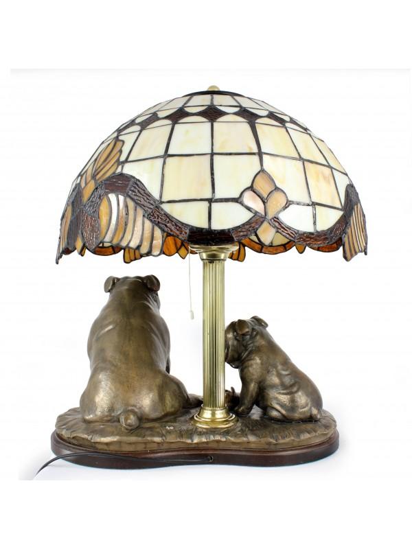 English Bulldog - lamp (bronze) - 659 - 7626
