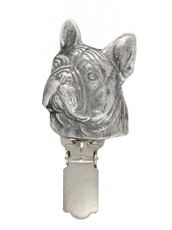 French Bulldog - clip (silver plate) - 252 - 26246