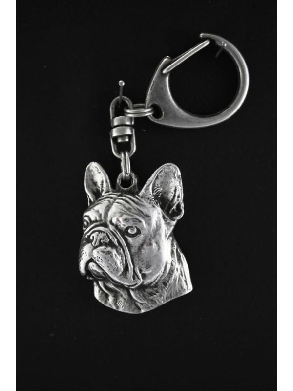 French Bulldog - keyring (silver plate) - 81 - 459