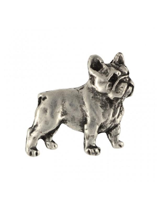 French Bulldog - pin (silver plate) - 466 - 25971