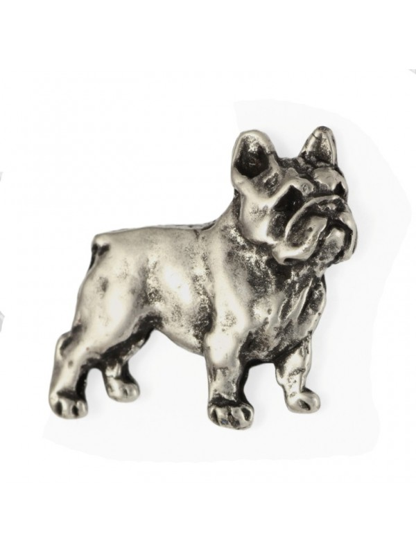 French Bulldog - pin (silver plate) - 466 - 25972