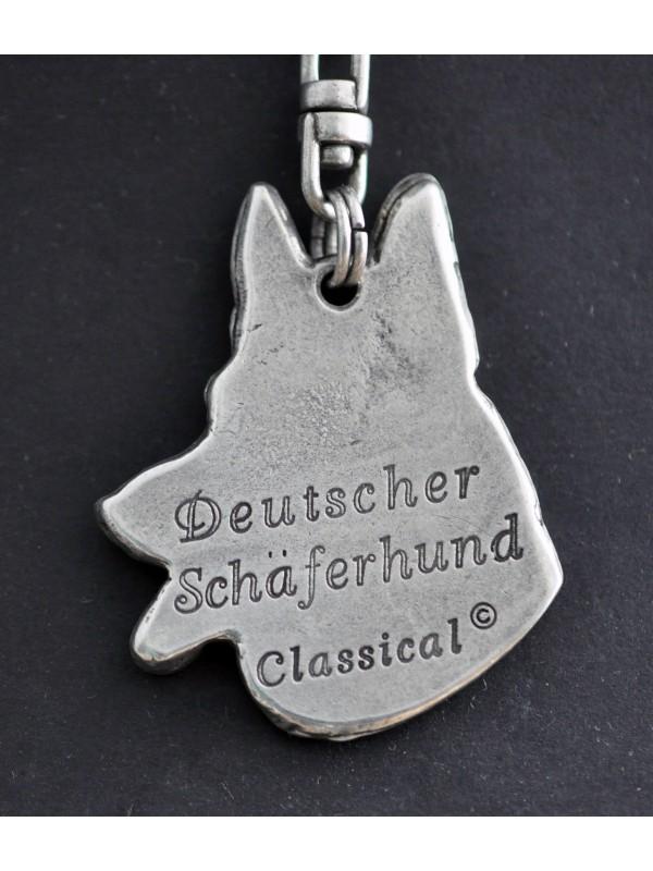 German Shepherd - keyring (silver plate) - 29 - 193
