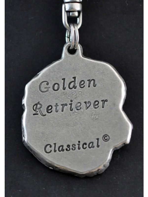 Golden Retriever - keyring (silver plate) - 22 - 158