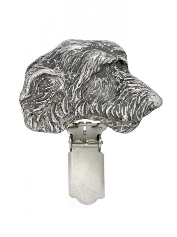Irish Wolfhound - clip (silver plate) - 274 - 26322