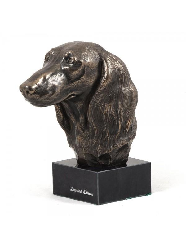 Jamnik Długowłosy - figurine (bronze) - 203 - 2875
