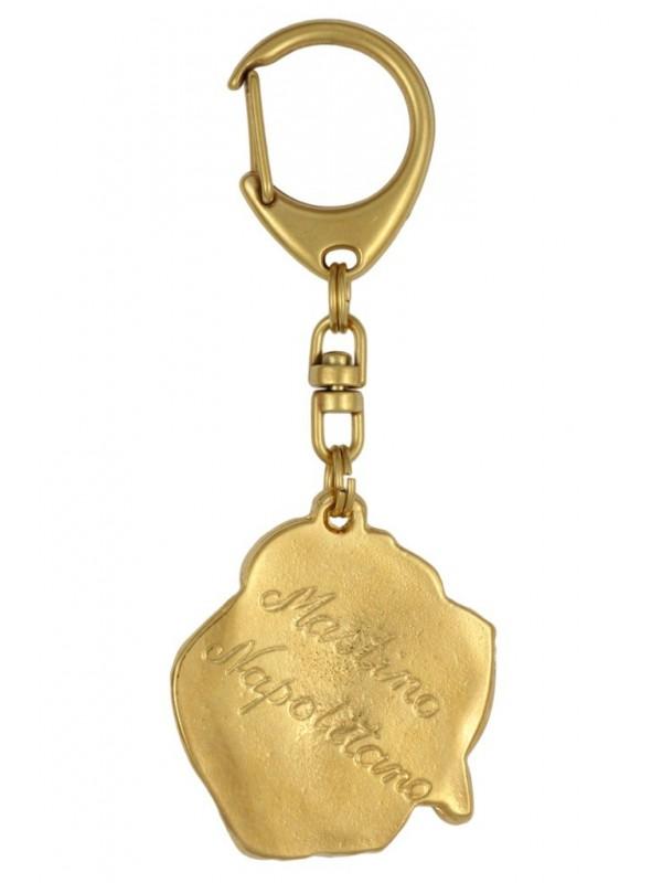 Neapolitan Mastiff - keyring (gold plating) - 795 - 25048