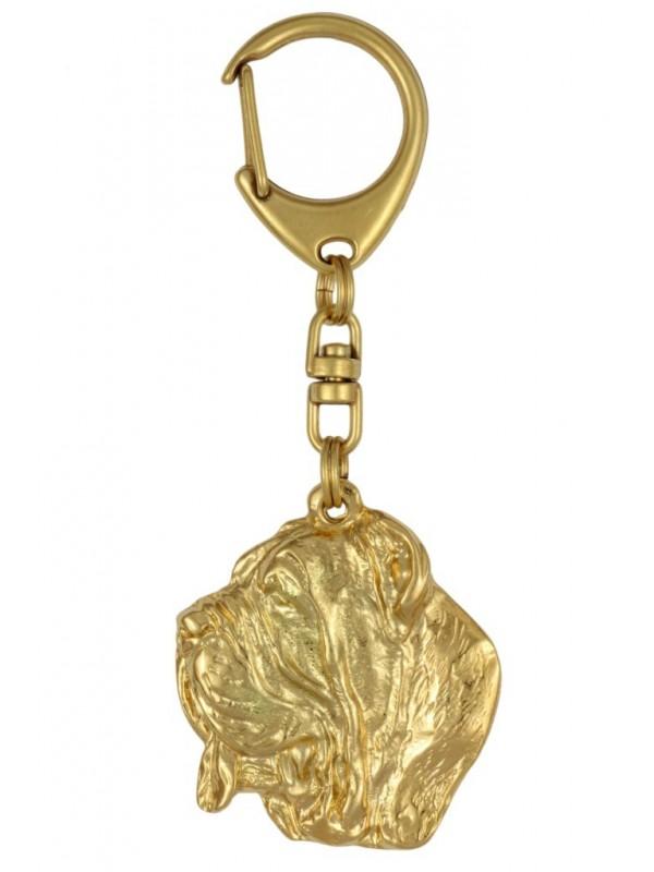 Neapolitan Mastiff - keyring (gold plating) - 795 - 25049