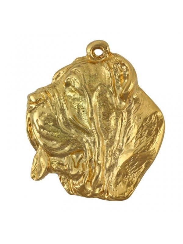 Neapolitan Mastiff - keyring (gold plating) - 795 - 25051
