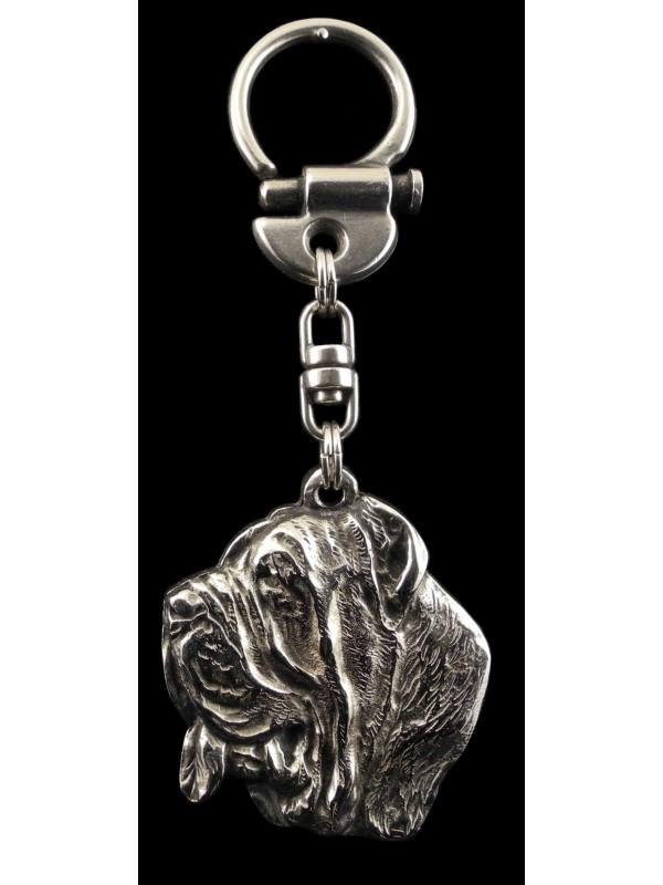 Neapolitan Mastiff - keyring (silver plate) - 33 - 217