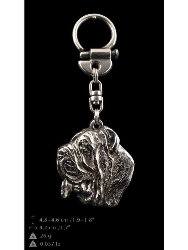 Neapolitan Mastiff - keyring (silver plate) - 33 - 9245