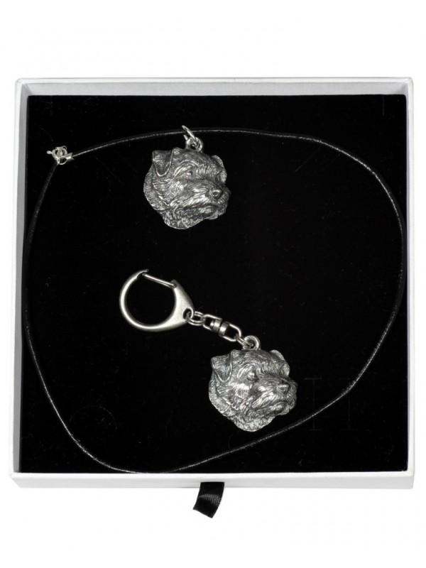 Norfolk Terrier - keyring (silver plate) - 2035 - 16813