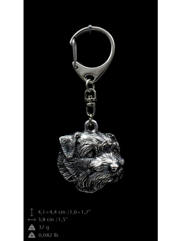 Norfolk Terrier - keyring (silver plate) - 2035 - 16804