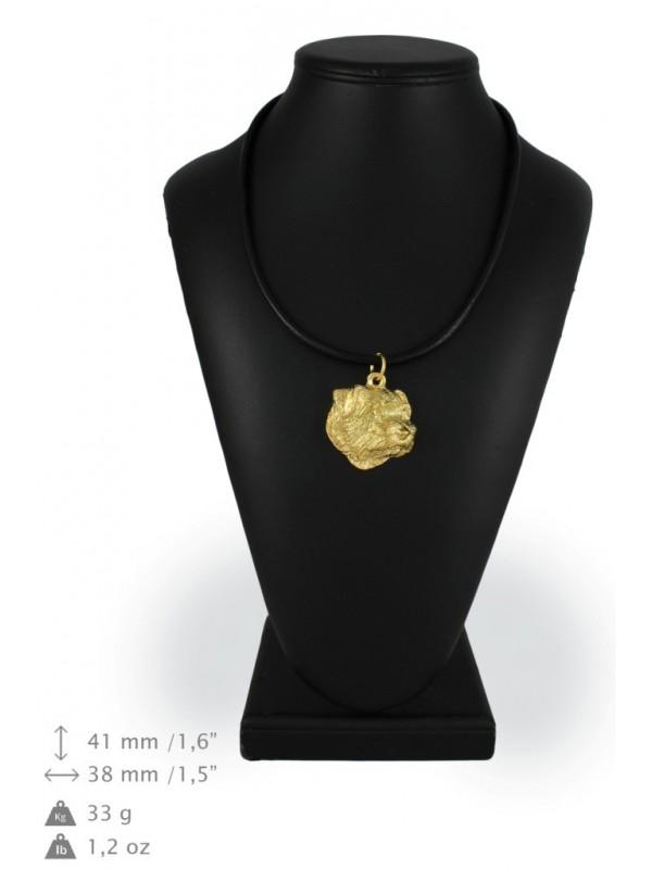 Norfolk Terrier - necklace (gold plating) - 1723 - 25561