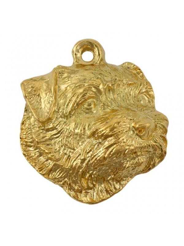 Norfolk Terrier - necklace (gold plating) - 1723 - 25562