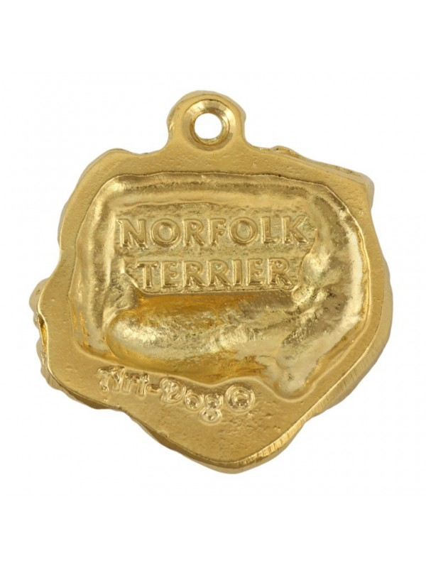 Norfolk Terrier - necklace (gold plating) - 1723 - 25563