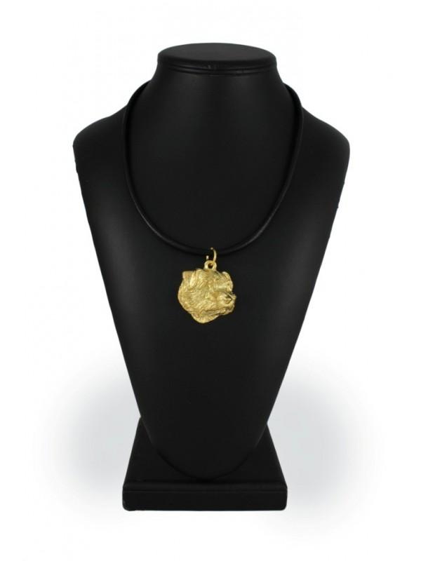 Norfolk Terrier - necklace (gold plating) - 1723 - 25564