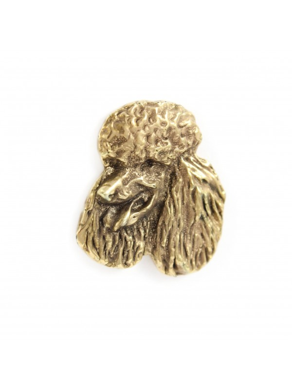Poodle - pin (gold plating) - 1058 - 7726