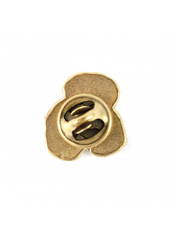 Poodle - pin (gold plating) - 1058 - 7728