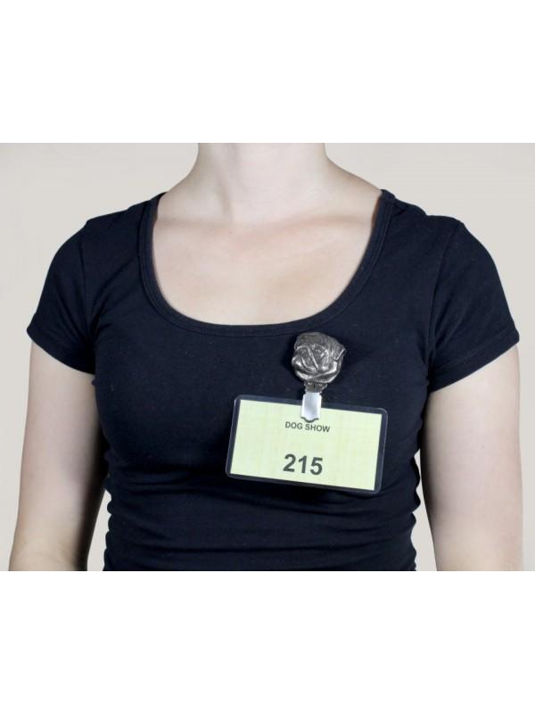 Pug - clip (silver plate) - 276 - 8621