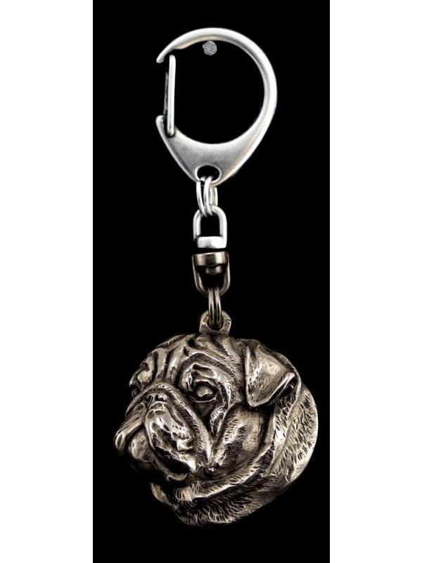 Pug - keyring (silver plate) - 1 - 9202