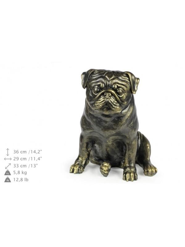 Pug - statue (resin) - 1598 - 8390