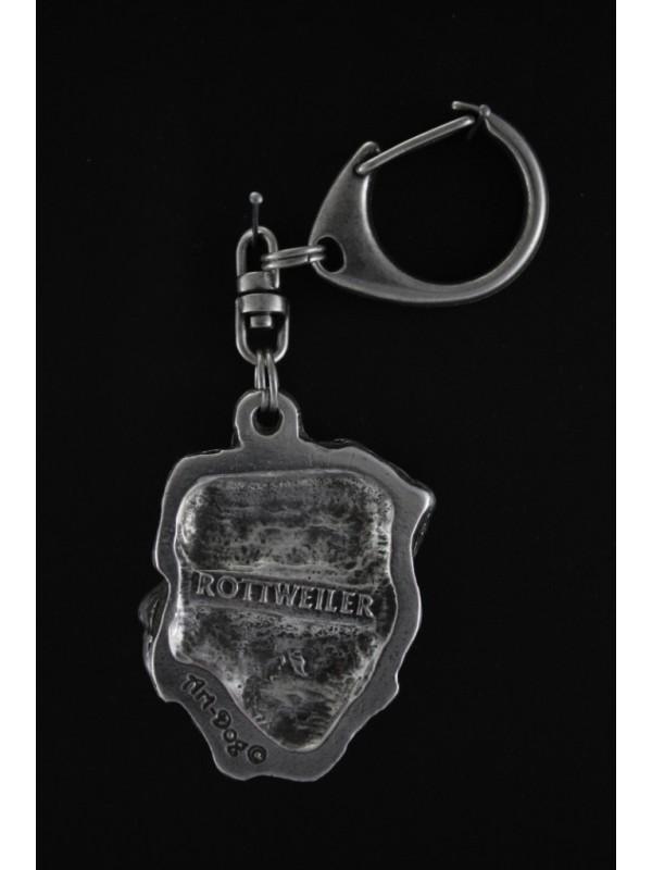 Rottweiler - keyring (silver plate) - 9 - 93