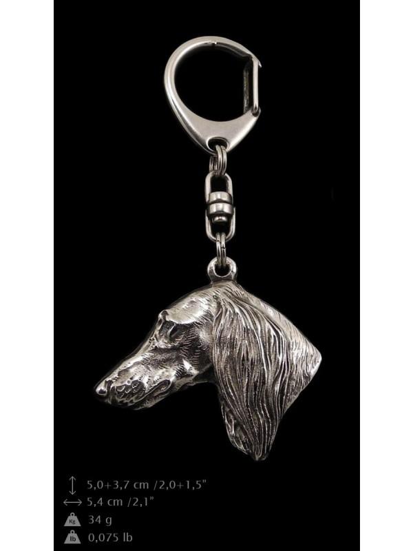 Saluki - keyring (silver plate) - 8 - 9214