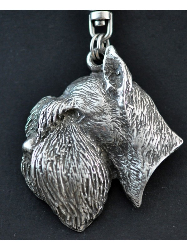 Schnauzer - keyring (silver plate) - 26 - 174