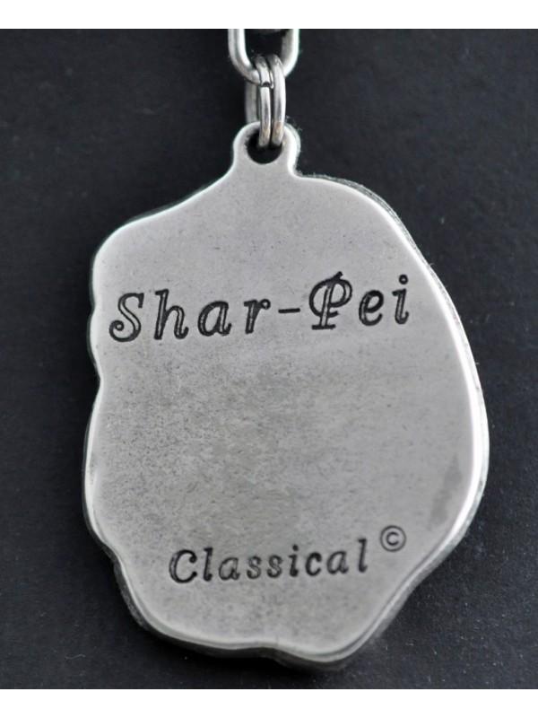 Shar Pei - keyring (silver plate) - 37 - 237