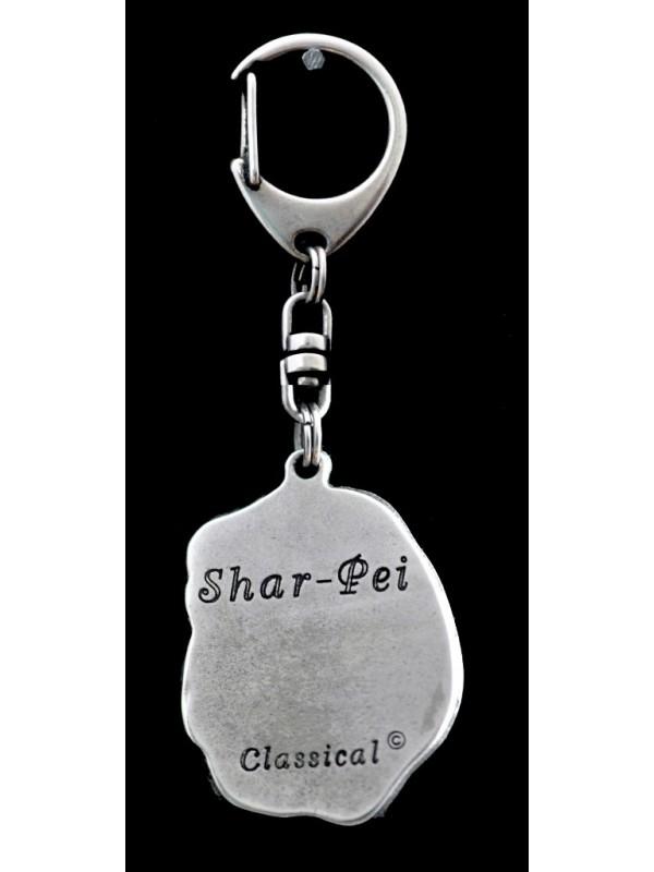 Shar Pei - keyring (silver plate) - 37 - 9254
