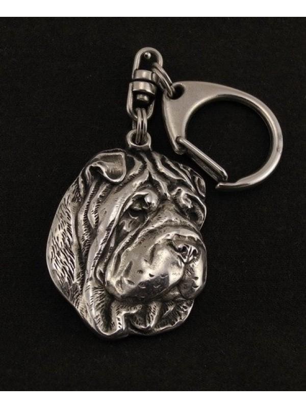 Shar Pei - keyring (silver plate) - 37 - 9255