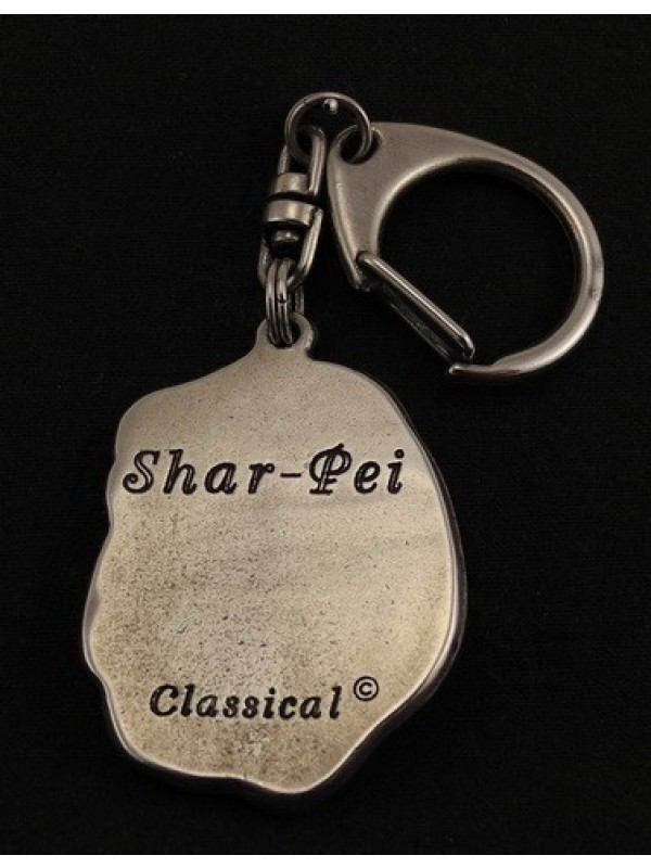 Shar Pei - keyring (silver plate) - 37 - 9256