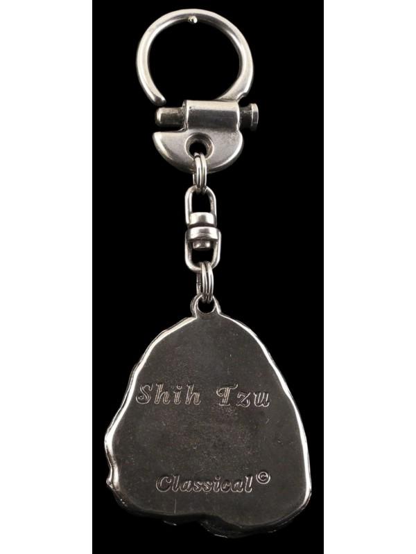 Shih Tzu - keyring (silver plate) - 20 - 150