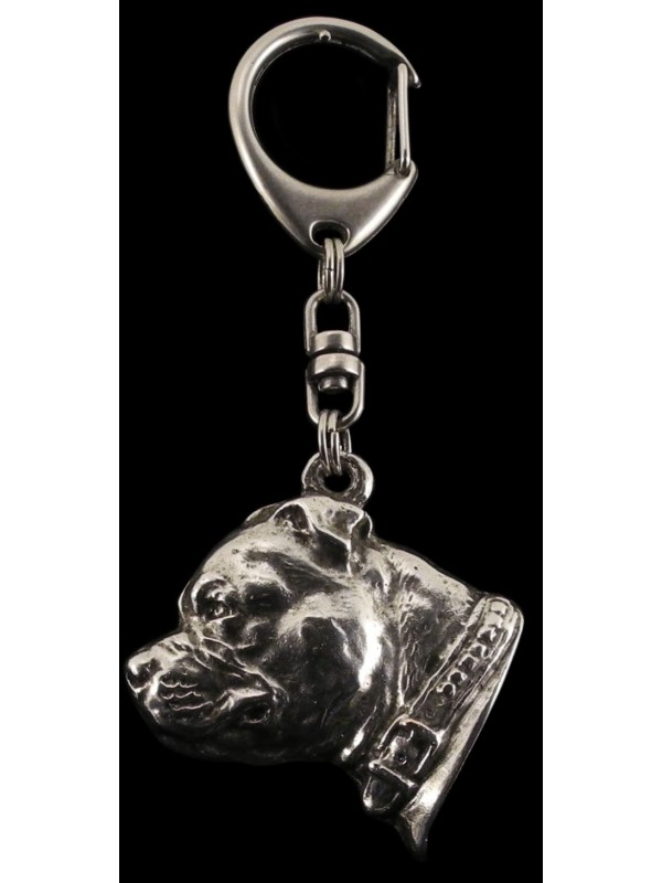 Staffordshire Bull Terrier - keyring (silver plate) - 63 - 375