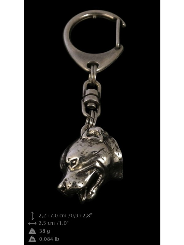 Staffordshire Bull Terrier - keyring (silver plate) - 67 - 9315