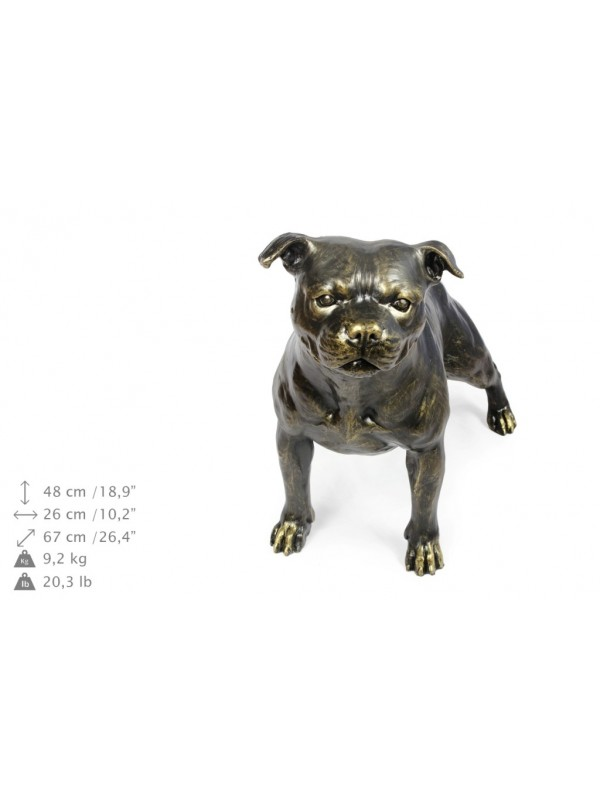 Staffordshire Bull Terrier - statue (resin) - 1599 - 8402