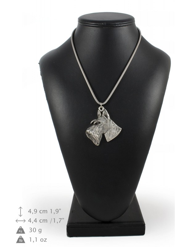 Switch Terrier - necklace (silver cord) - 3163 - 33033