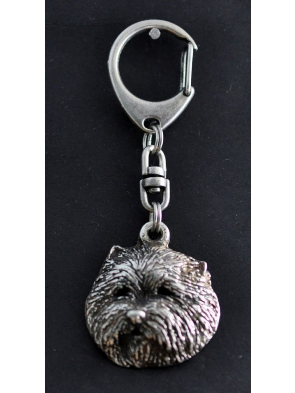 West Highland White Terrier - keyring (silver plate) - 72 - 416
