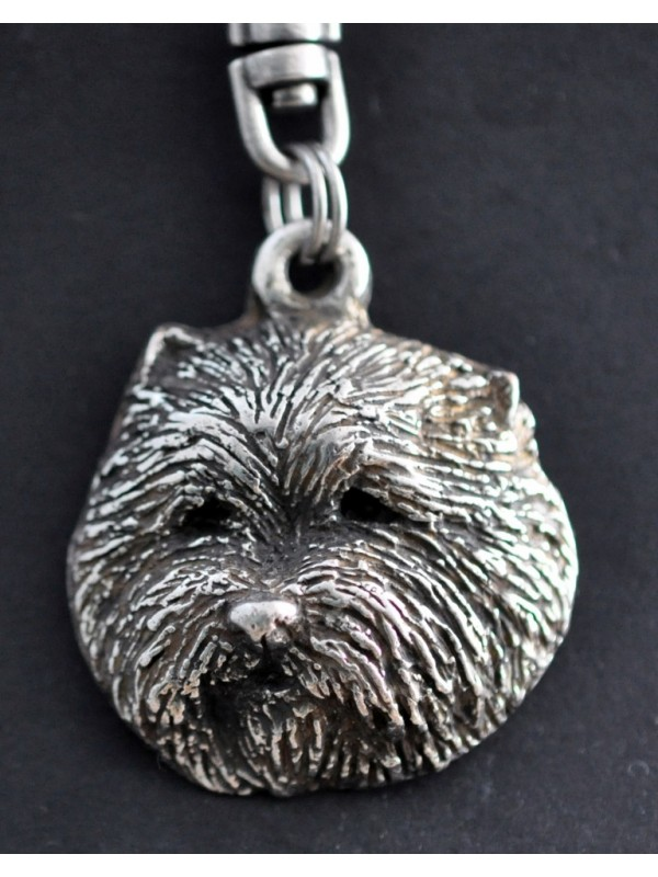 West Highland White Terrier - keyring (silver plate) - 72 - 417