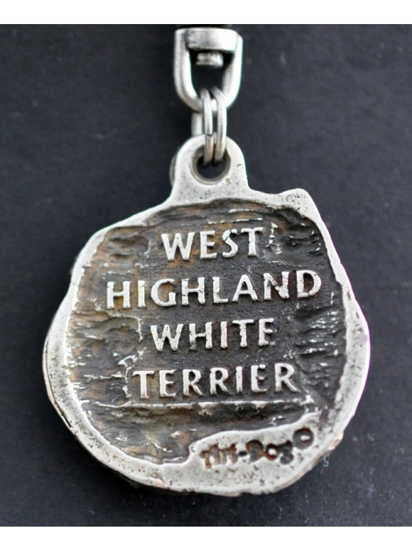 West Highland White Terrier - keyring (silver plate) - 72 - 418