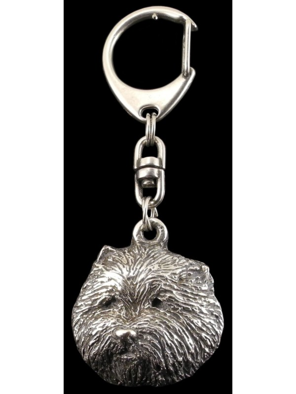 West Highland White Terrier - keyring (silver plate) - 72 - 419