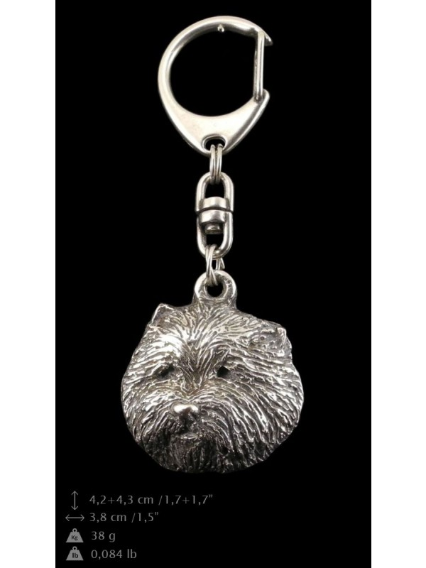 West Highland White Terrier - keyring (silver plate) - 72 - 9327