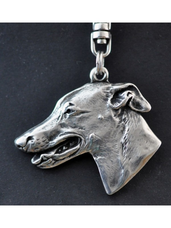 Whippet - keyring (silver plate) - 656 - 9394