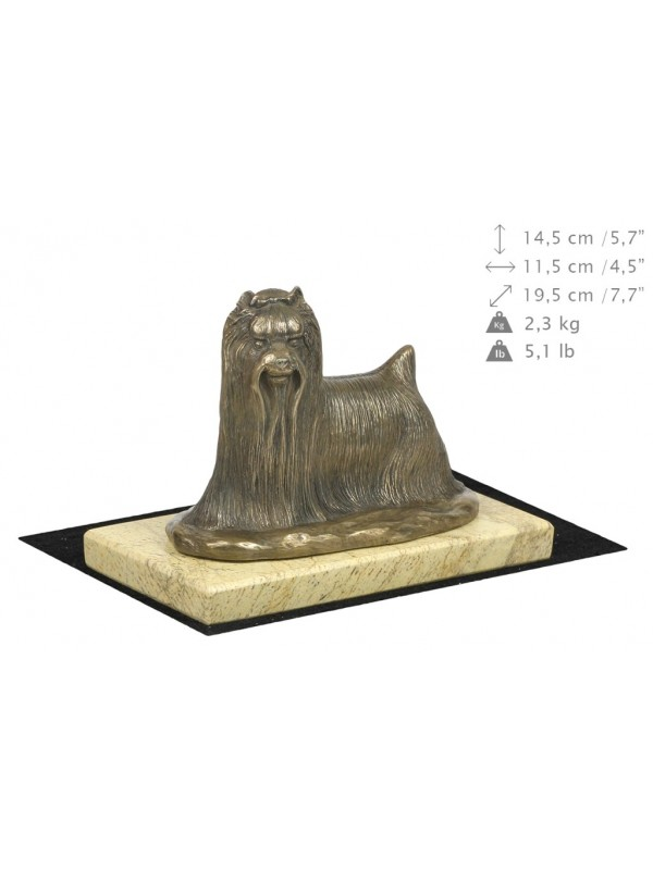 Yorkshire Terrier - figurine (bronze) - 4681 - 41836