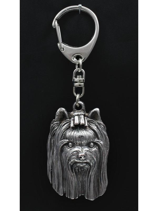 Yorkshire Terrier - keyring (silver plate) - 1099 - 4693