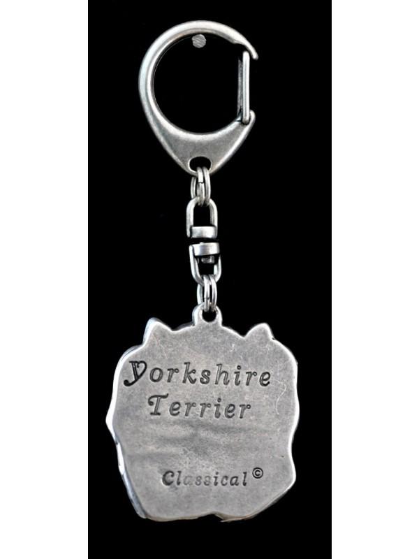Yorkshire Terrier - keyring (silver plate) - 35 - 9248